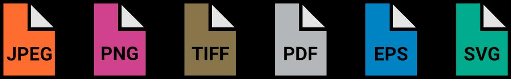Grafikformate Icons