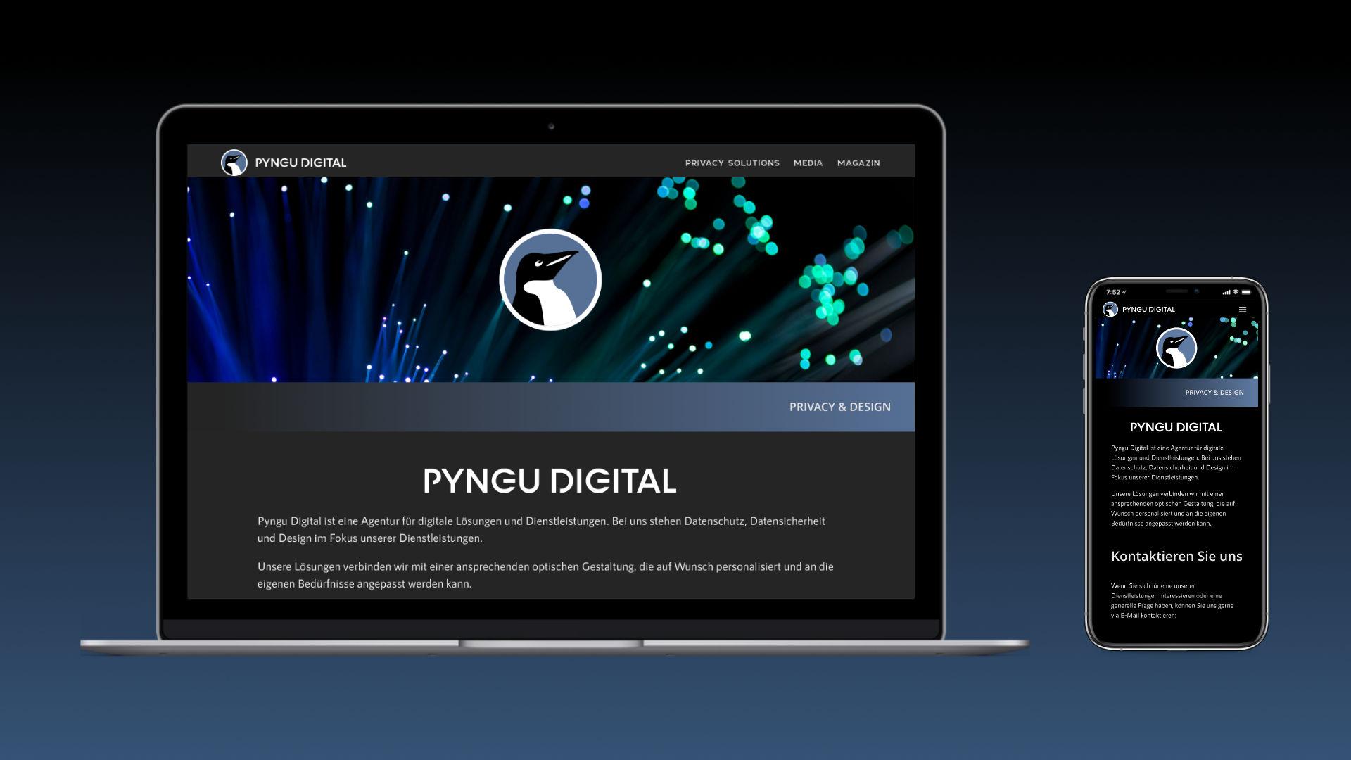 Pyngu Digital Mockup